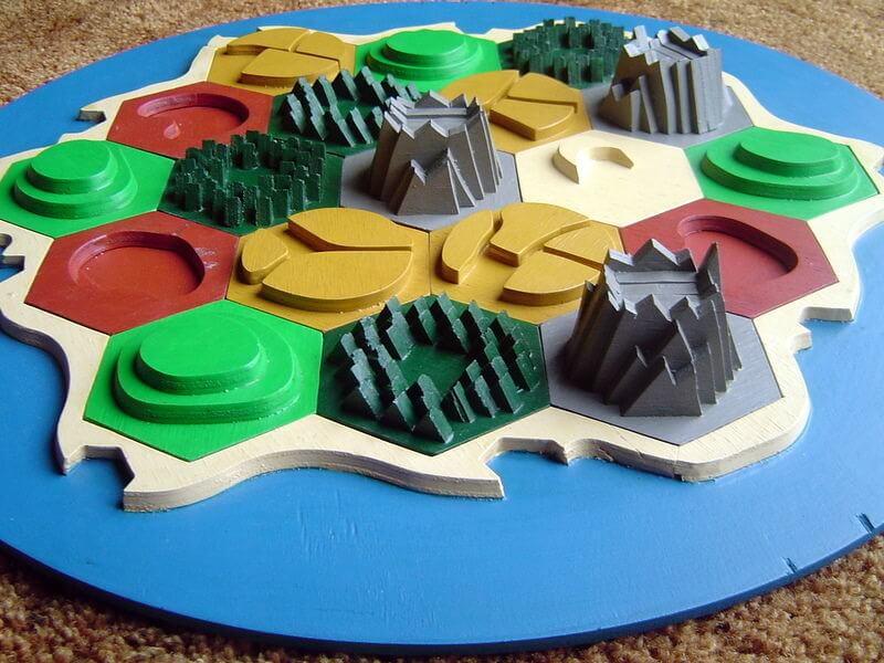 Custom Catan Board from Instructables
