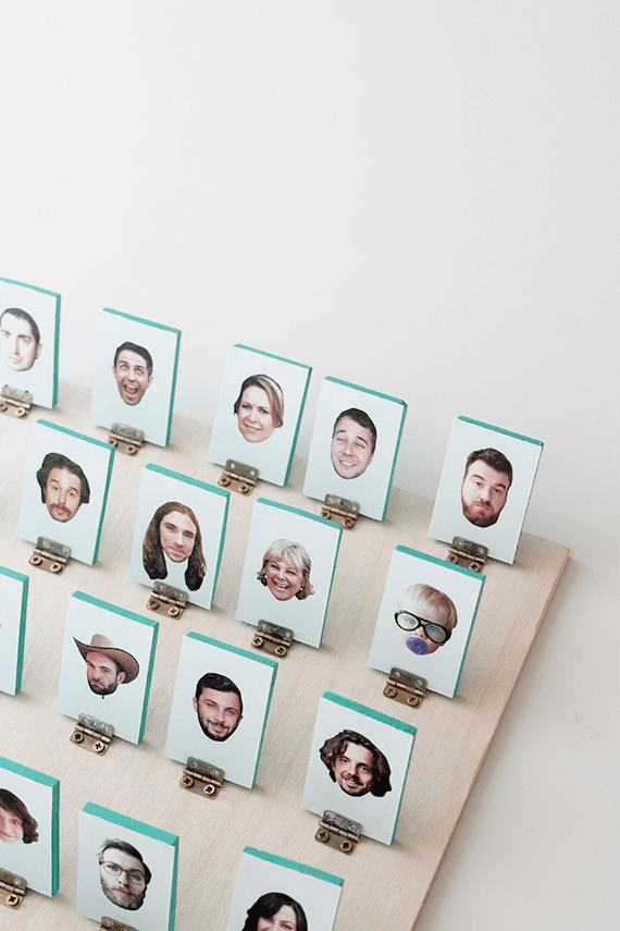DIY Guess Who from Almost Makes Perfect