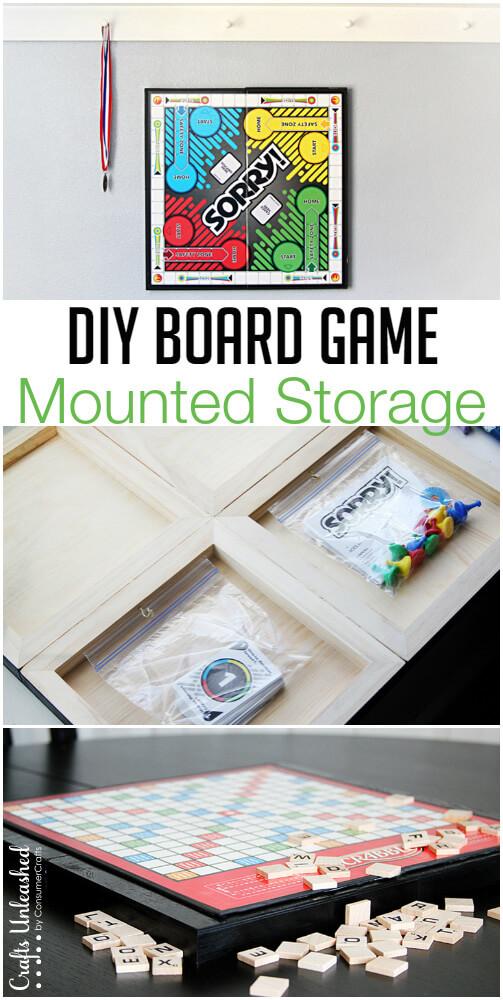 DIY Mounted Board Game Storage