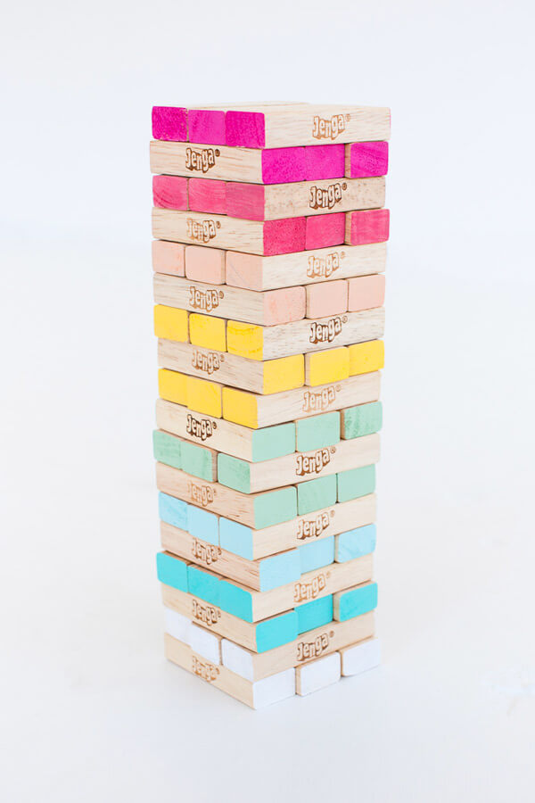 diy ombre jenga from lovely indeed