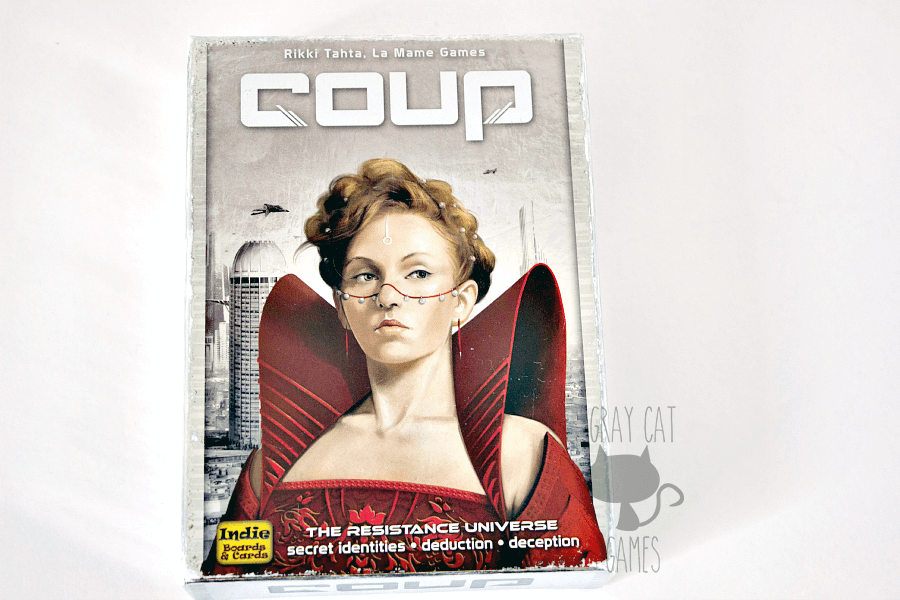 Coup is a fantastic bluffing-style card game for 2-6 players. It combines a little bit of deduction, back stabbing, and quick game play to make for a great gaming experience. You'll want to protect your components because you'll be playing it a lot! || via graycatgames.com