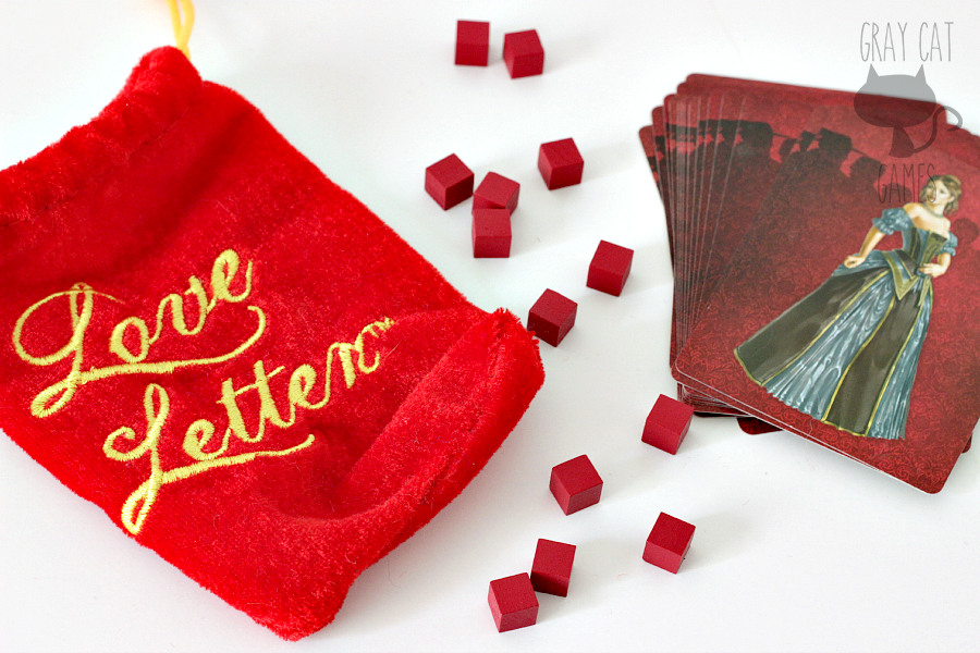 Love Letter is a tiny card game with some light bluffing mechanics. It plays very quickly with 4 players and is great to fill time in while waiting for others to arrive, or while waiting for your dinner at a restaurant.
