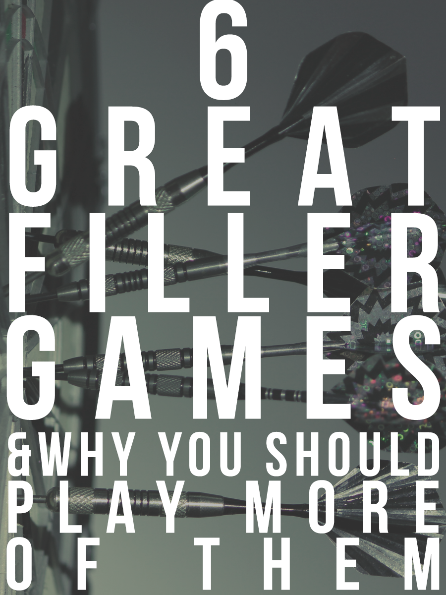 Need a short game to help pass the time? Here are 6 great filler games worth buying, and why you should add more fillers games to your collection.