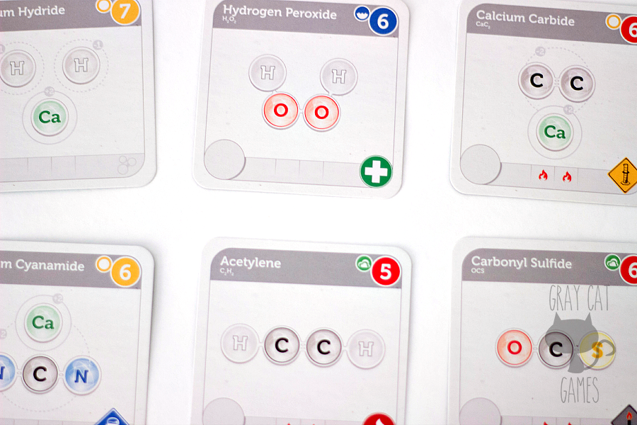 "Compounded is a medium-weight euro style game that combines elements of ""piece"" placement and negotiation. The chemistry theme and beautiful components are enough to set this one apart for us!"
