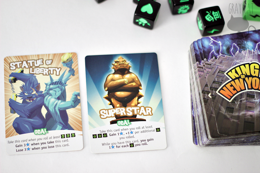 King of New York is a fast-paced dice-rolling game with a heaping dose of chaos and plenty of yelling. It's fast, it's simple, and it's a lot of fun!