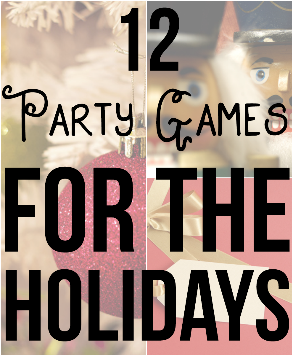 12 party games for the holidays that AREN'T Cards Against Humanity! If you're going to visit family for the holidays, you may need some ideas on keeping people entertained. These party games are perfect for a crowd!